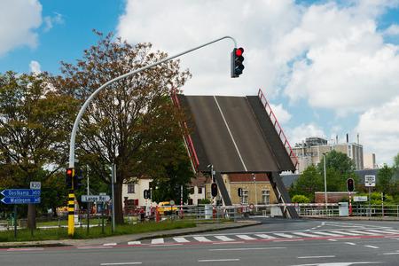 bruges: Bruges, Belgium - MAY 28, 2015: Drawbridge in Bruges Editorial