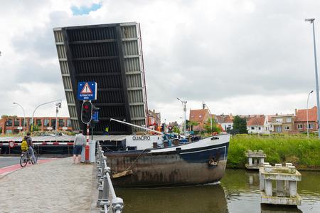 drawbridge: Bruges, Belgium - MAY 28, 2015: Drawbridge in Bruges Editorial