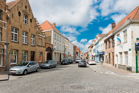 bruges: BRUGES, BELGIUM - MAY 28 2015: street in Bruges, Belgium. Bruges is the capital and largest city of the province of West Flanders in the Flemish Region of Belgium.