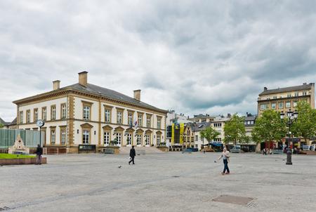 luxembourg: LUXEMBOURG, LUXEMBOURG - MAY26, 2015: Place Guillaume II in Luxembourg