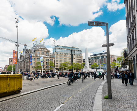 sabbatical: AMSTERDAM, NETHERLANDS - JUNE 01, 2015:  Typical view of streets of Amsterdam in summer.  Amsterdam is the capital city and most populous city of the Kingdom of the Netherlands