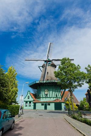 near death: Old windmill De Bleeke Dood (The Pale Death) in Zaandijk (near Amsterdam). The Netherlands Editorial
