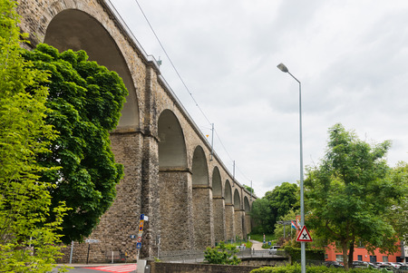 viaduct: Old Bridge - Passerelle Bridge Or Luxembourg Viaduct In Luxembourg.
