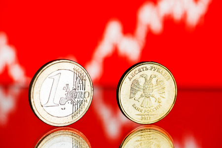 correlation: The Russian rouble coin and Euro