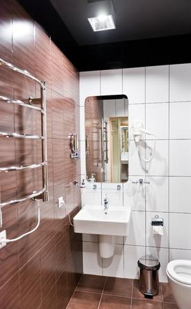 modern bathroom: New modern bathroom Stock Photo