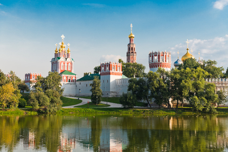 Novodevichy convent in Moscow, Russia   Stock Photo