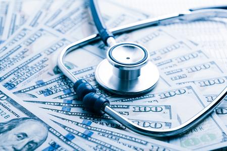El costo de la atención médica Tono azul