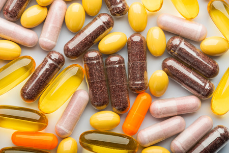 pharmaceutical colorful pills and Capsules medicine