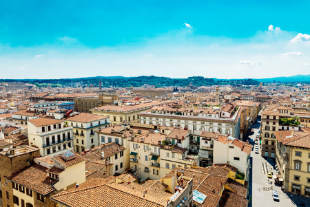 A view on the tile roofs of Florence Imagens