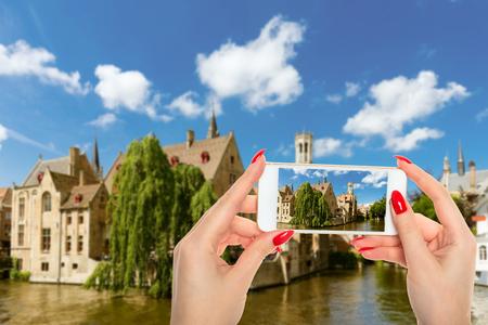 Rozenhoedkaai in Brugge,