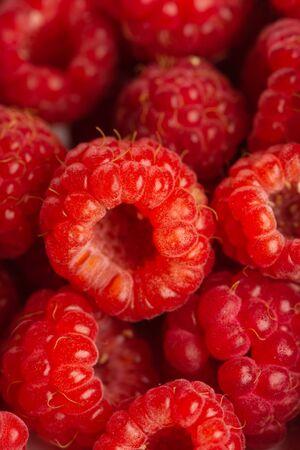 Fresh raspberries background close up