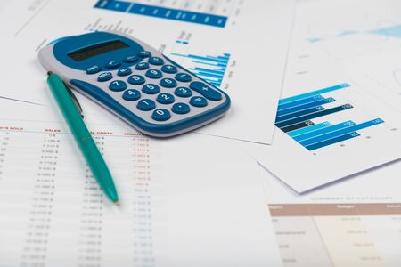 Business report financial accounting graphs analysis