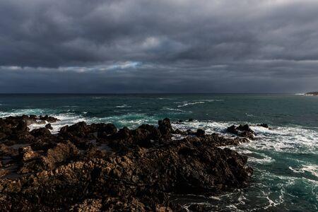 Rocky ocean coast in Puerto de la Cruz. Tenerife. Canary islands