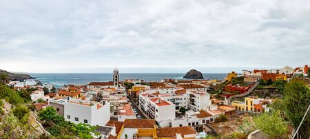 Overview of the colorful and beautiful town of Garachico. Tenerife, Canary islands, Spain