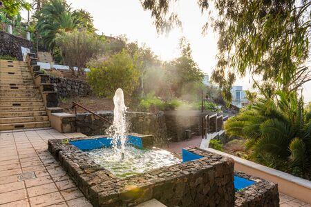 Fountain in Parque Taoro in Puerto De La Cruz in Tenerife Фото со стока
