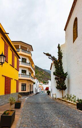 Street of Garachico Town on Tenerife Island, Canary, Spain