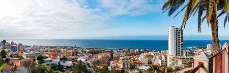 Panorama of Puerto de la Cruz. Tenerife, Canary Islands, Spain. Фото со стока