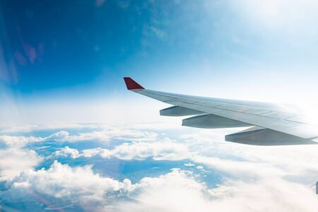airplane view of  beautiful clouds Фото со стока