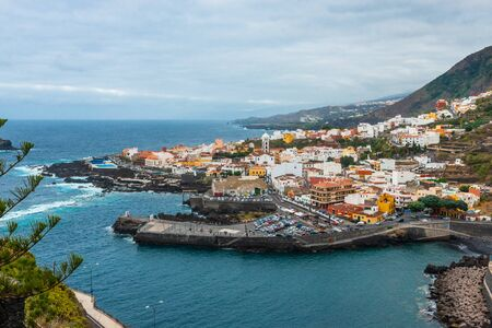Aerial view of Garachico in Tenerife, Canary Islands, Spain Banque d'images