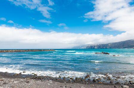 Martianez beach in Puerto de la Cruz, in the north of the island
