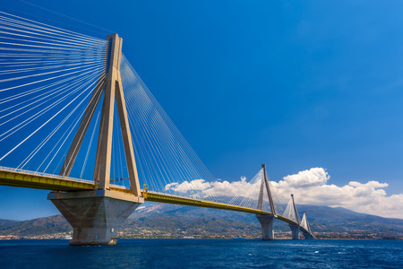 Rion-Antirion Bridge. The bridge connecting the cities of Patras and Antirrio, Greece.