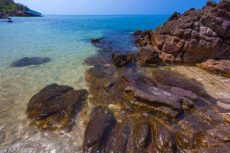 the sunken: Rocky beach. Lanta. Krabi, Thailand.