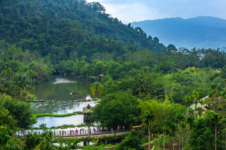 Lake in the rainforest. Yanoda Rain Forest. Hainan, China. 版權商用圖片