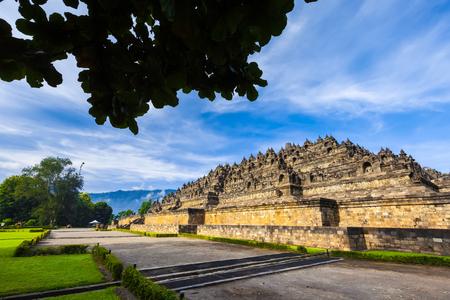Heritage Buddist temple Borobudur complex. Candi Borobudur, Yogyakarta, Jawa, Indonesia.