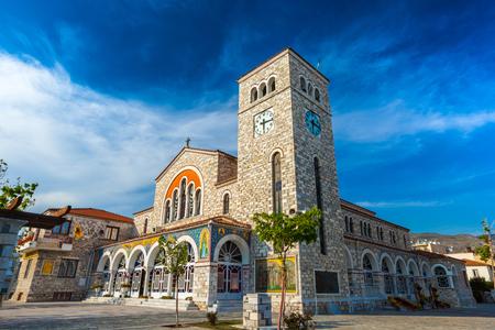 Church of the Annunciation. Volos, Magnisia, Hellas, Greece - April 2017.
