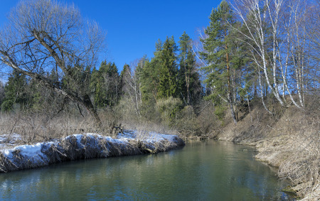 no snow: Spring landscape