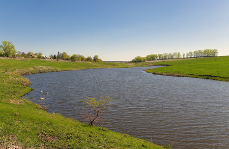 mecha: River Krasivaya Mecha in Russia Stock Photo