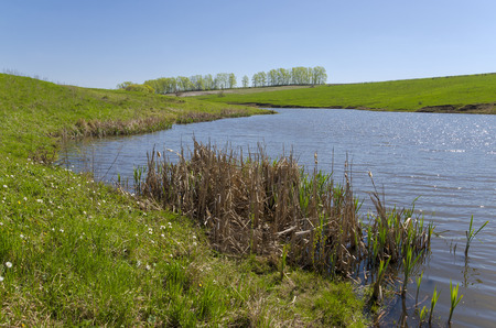River Krasivaya Mecha in Russia Stock Photo