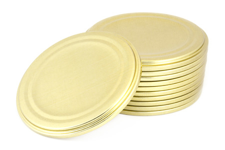 tin: Tin lids Stock Photo