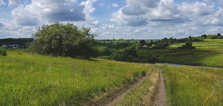 countryside landscape: Summer countryside landscape