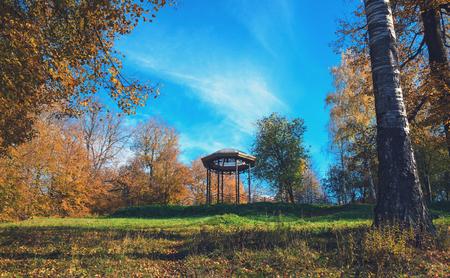rotunda: autumn park