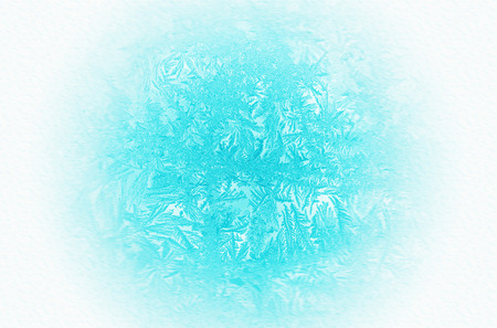 Frosty pattern on window Standard-Bild - 113493244