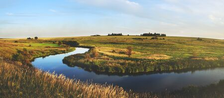 Summer landscape with river Stock Photo - 141961447