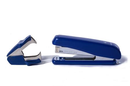 grapadora: azul grapadora