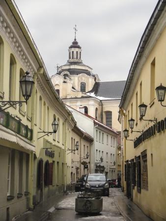 vilnius: Street view of Vilnius Stock Photo