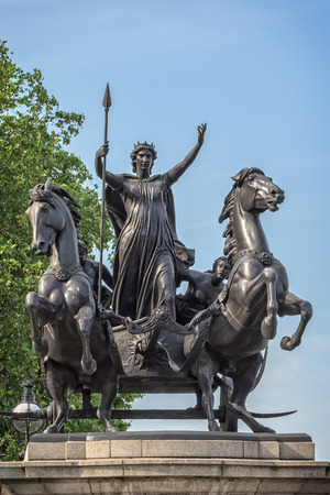 revolt: Monument in memory of Queen of the British tribe Iceni, who led revolt against the Romans in AD 60-61. Editorial