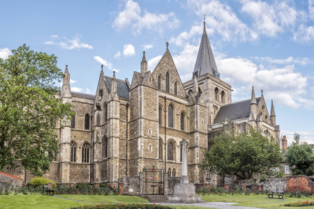 Side view to Rochester cathedral in England Stock Photo
