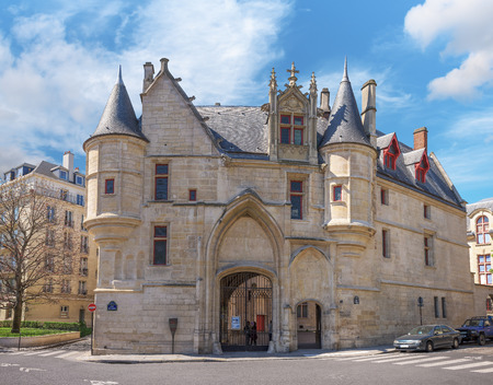 sens: Paris, France - April 18, 2015. Mansion Hotel de Sens in Paris as seen on April 18, 2015. Built in style in between late Gothic and early Renaissance.