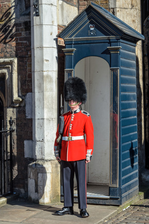 life guard: London, United Kingdom - July 23, 2012: Queens Guard or Queens Life Guard at St. James palace on 23rd of July 17, 2012 in London, England Editorial