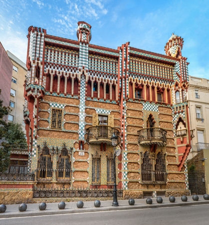 Barcelona, Spain - September 24, 2015: Casa Vicens in Barcelona as seen on 24th of September, 2015