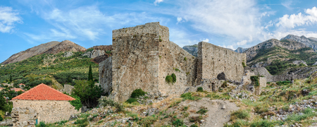 medeival: Bar, Montenegro - September 28, 2012: Ruins of Old Bar town walls. Town was a fortress in medeival times. Editorial