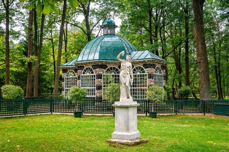 petergof: Petergof, St Petersburg, Russia - September 1, 2012: View of east Volary in Lower garden. Built in 1722.