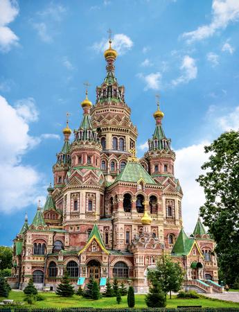 petergof: Cathedral of Saints Peter and Paul in Petergof, Saint Petersburg, Russia