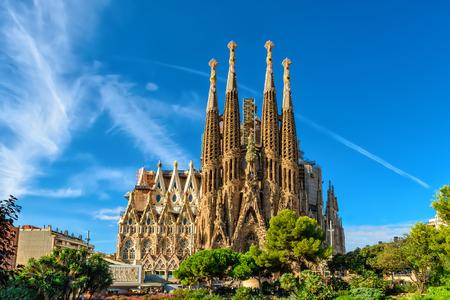 Cattedrale della Sagrada Familia. È stato progettato dall'architetto Antonio Gaudi e viene costruire dal 1882. Archivio Fotografico - 56610766