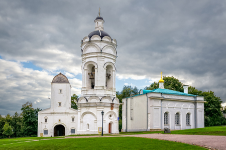 Kolomenskoye, Moscow, Russia - August 31, 2012: St. George the Victorious Church and Vodovzvodnaya Tower.