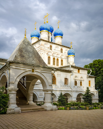 Kolomenskoye, Moscow, Russia - August 31, 2012: View of Church of the Kazan Icon of the Mother of God, or Our Lady of Kazan.
